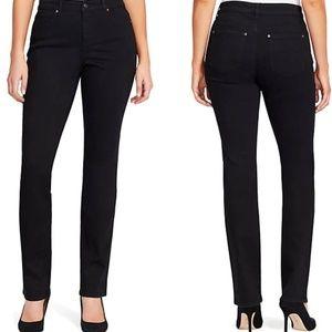 Gloria Vanderbilt Jeans Rail Straight Black sz 10